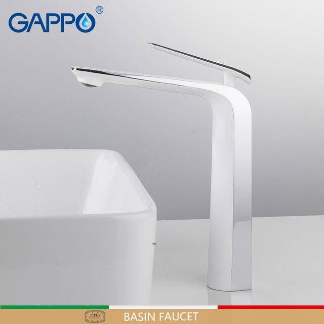 GAPPO mitigeur de lavabo, mitigeur de lavabo, robinetterie de salle de bains mitigeur de lavabo monté sur le pont en laiton, robinetterie de salle de bains
