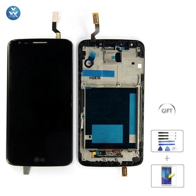 Для LG Optimus G2 Жк-Экран и Дигитайзер, Для LG G2 Жк-D802 D805 VS980 D800 F320 Жк-Дисплей Ассамблея Сенсорный Экран С кадр