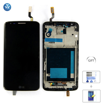 Para lg optimus g2 pantalla lcd y digitalizador para lg g2 lcd D800 D805 D802 VS980 F320 Pantalla Lcd Asamblea de Pantalla Táctil Con marco