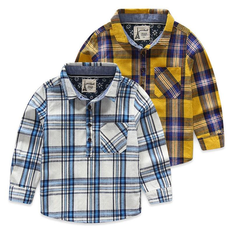 Dětské košile pro chlapce jaro podzim dlouhé rukávy dětské - Dětské oblečení