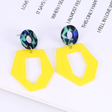 Bohopan Fashion Simple Drop Earring For Women  2019 Irregular Geometric Acrylic Earrings Jewelry statement Wedding Party Gift