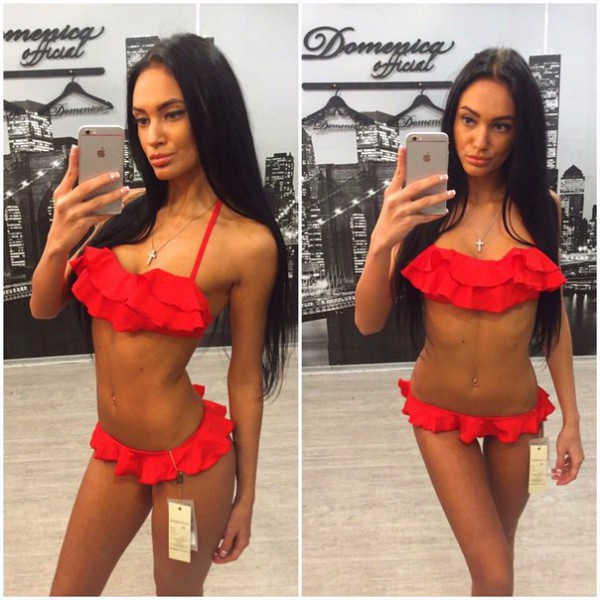 2017 new sexy thong red micro sexy women low waist bandeau  bikini ruffle swimwear hot sale white blue bikini set gorenje du 6446 e