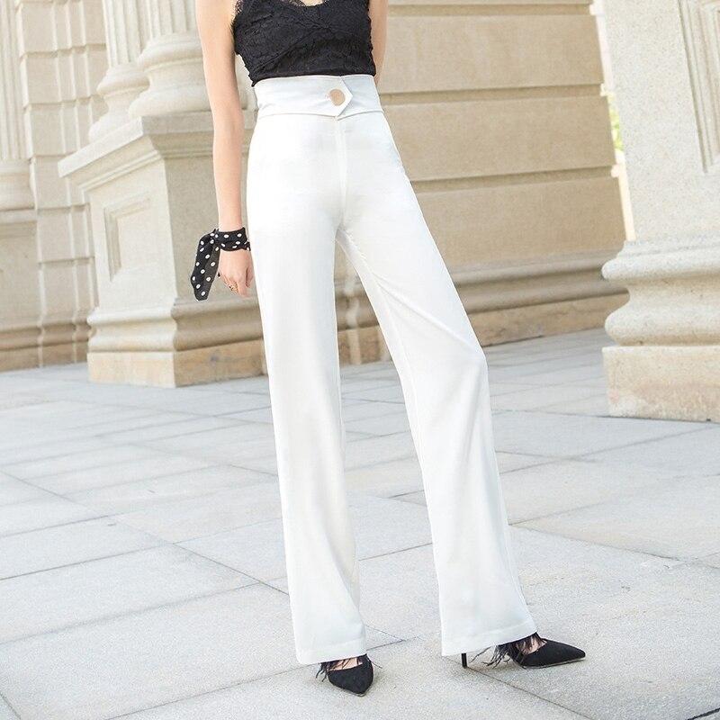ACRMRAC женские повседневные брюки весна и осень высокая талия брюки тонкие однотонные прямые брюки длинные брюки женские