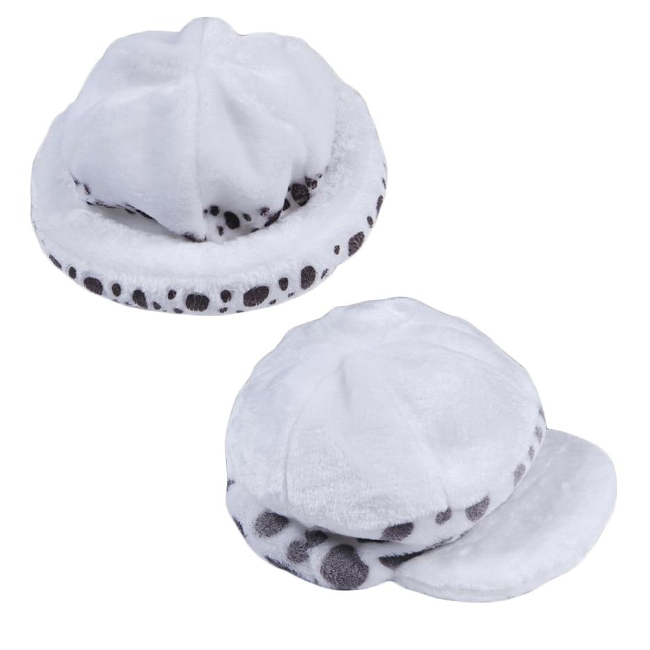 2Styles Anime One Piece Trafalgar Law Hat Cosplay Costumes White Spot Plush Casual  Cap