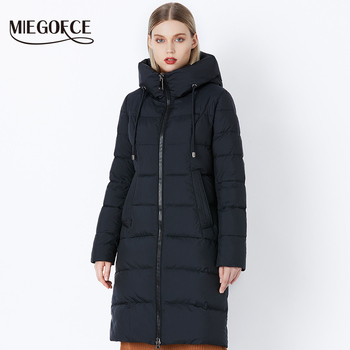MIEGOFCE 2018 Women Thick Winter Outerwear from Windproof Warm Women Coat stand Collar Hooded Jacket Clothing Winter Collection Одежда
