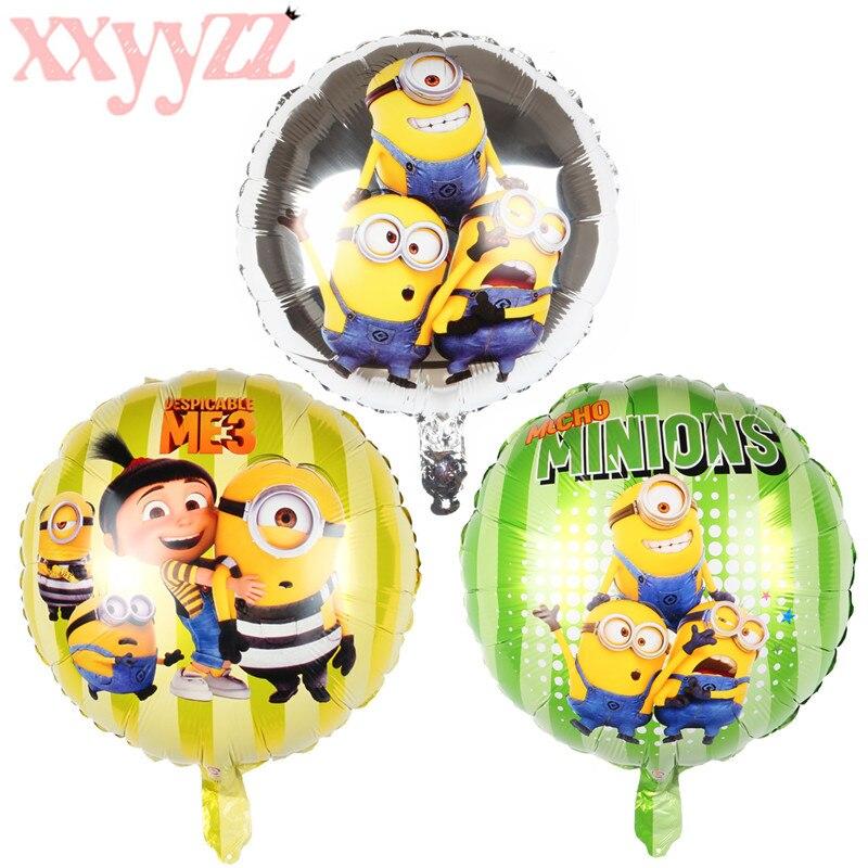 Воздушные шарики XXYYZZ, фотографические гелиевые шарики с изображением миньона для вечерние