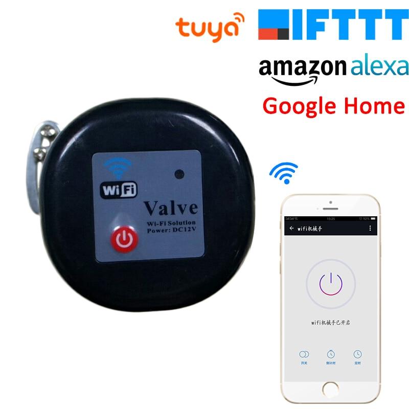 Tuya Amazon Alexa Assistente Google IFTTT Válvula De Água A Gás de Controle Sem Fio Inteligente Vida Inteligente WiFi Controlador de Desligamento