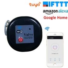 Tuya Amazon Alexa и Google Assistant, IFTTT Смарт Беспроводной Управление клапан для газа, воды приложение Smart Life Wi-Fi перекрытия воды Управление;