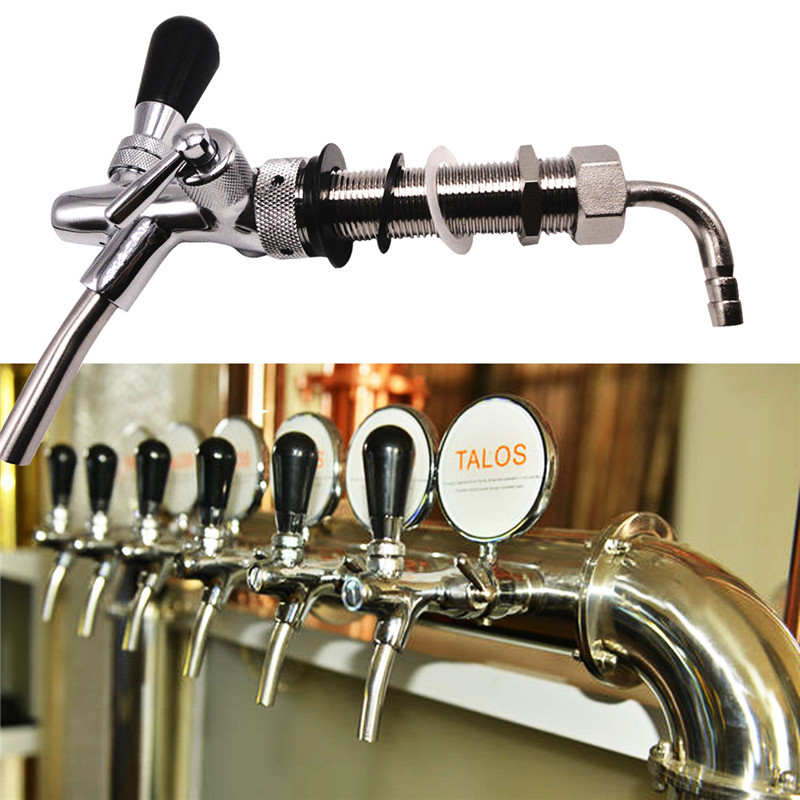 G5/8 4 Inch Stainless Steel Adjustable Draft Beer Faucet Shank ...