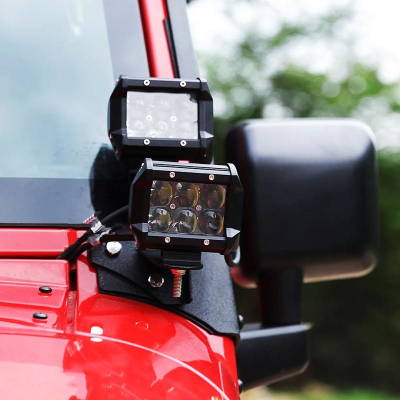 2x30 Вт 4 дюйма светодиодный свет работы Бар Наводнение луча для бездорожья 4WD Мотоцикл ...