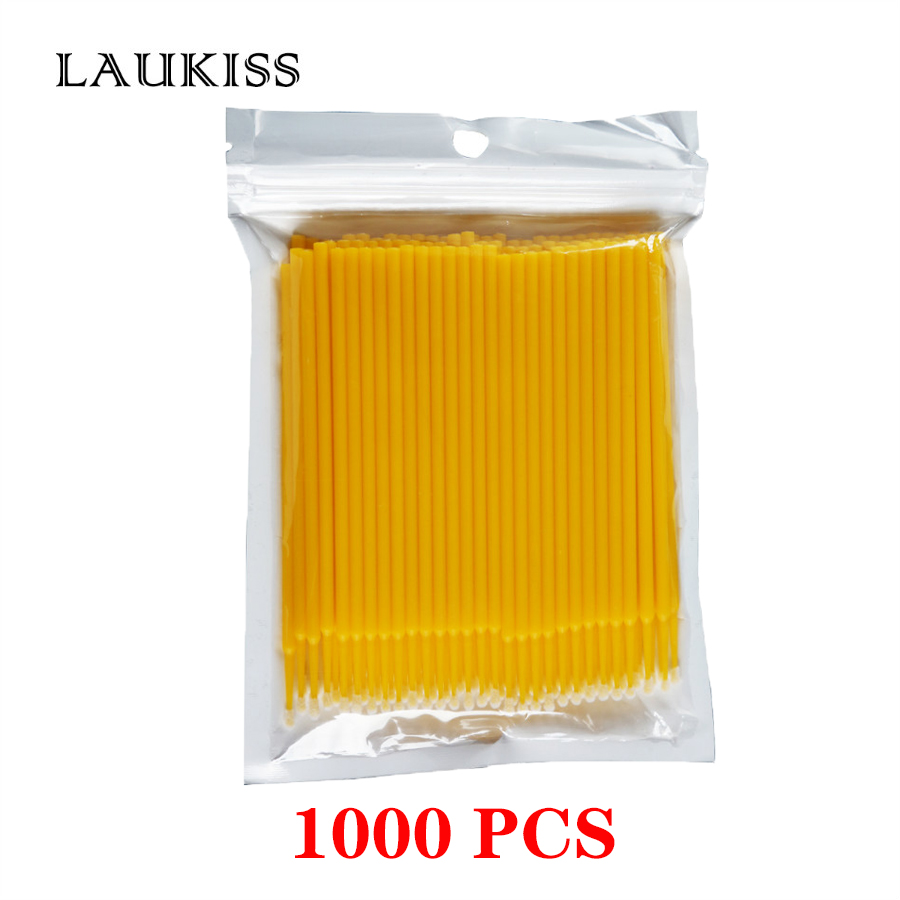 Cotton Swabs 1000PCS Microbrushes Disposable Cotton Stick Tattoo Eyelash Extension Individual Lash Removing Cotton Swabs