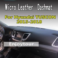 For hyundai tuscon 2015 2018 2019 micro leather dashmat dashboard cover sunlight pads dash mat sun shade 2016 2017 LHD+RHD