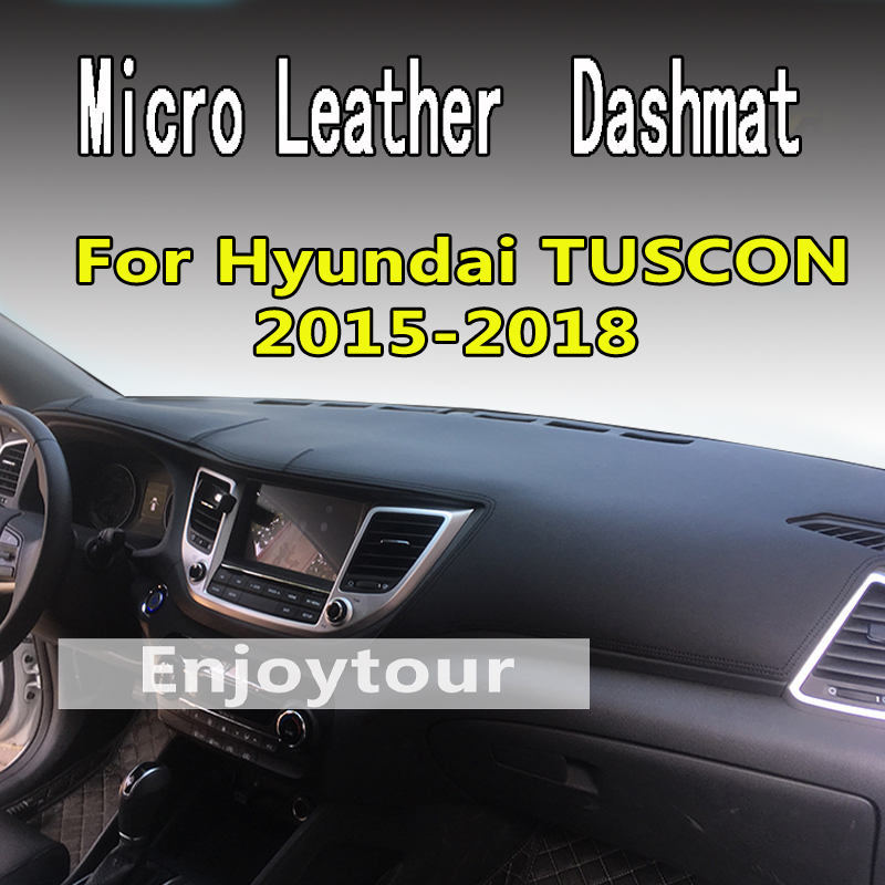 For hyundai tuscon 2015-2018 micro leather dashmat dashboard cover prevent sunlight pads dash mat 2016 2017 LHD+RHD ...
