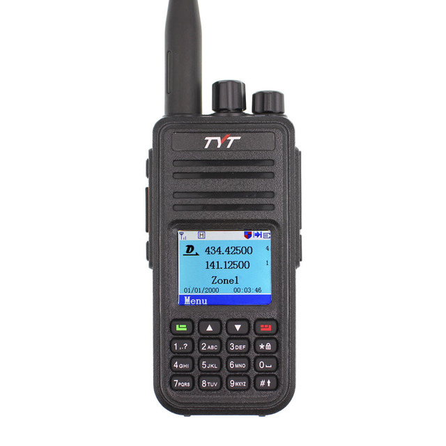 TYT MD-UV380 Walkie Talkie Dual Band Radio MD-380 MD380 VHF UHF Digital DMR Two Way Radio Dual Time Dlot Transceiver