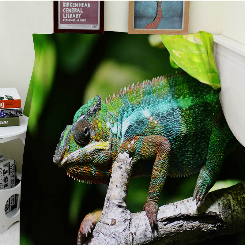 pink chameleon plaid - Blankets Cobertor Warmth Soft Plush Magical Animal Chameleon Lizard Camouflage Green Sofa Bed Throw a Blanket Thick Thin Plaid