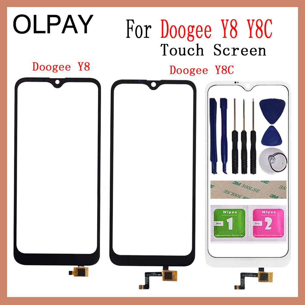 OLPAY 6.1'' 100% New For Doogee Y8 Touch Screen Digitizer For Doogee Y8C Touch Panel Touchscreen Sensor Front Glass Tools