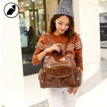 ETONWEAG Brands PU Leather Backpacks For Teenage Girls Brown Fashion Designer Backpack Women School Bags Small
