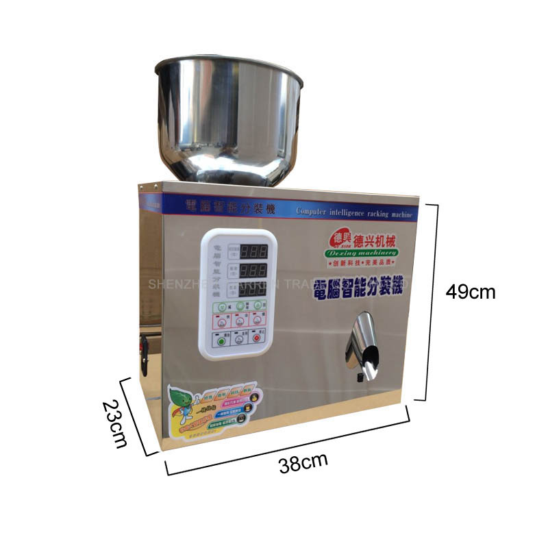 1pcs weighing and packing bag tea packaging machine automatic measurement of particle packing machine 1-25g Упаковка