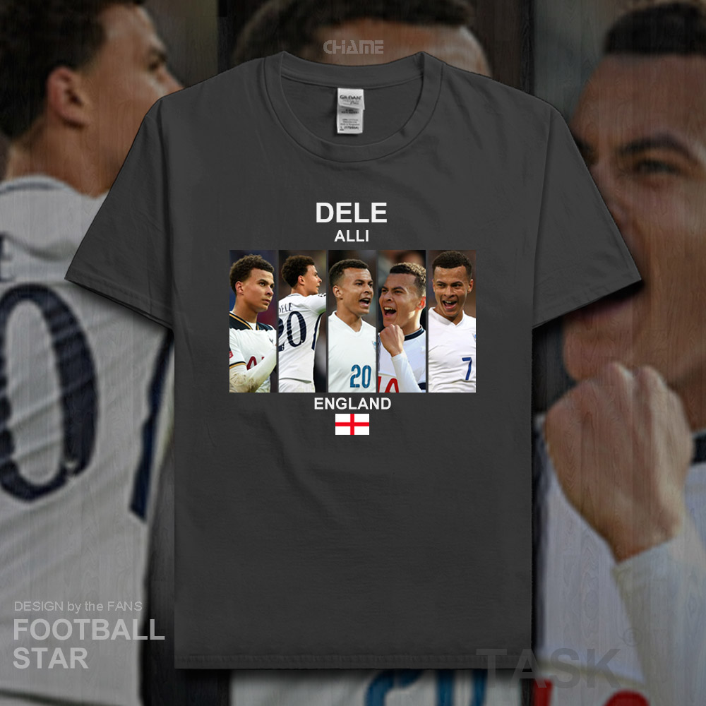 low priced fcdaa acbe9 US $5.99 |Dele Alli t shirt 2018 jerseys England footballer star tshirt  100% cotton fitness The fans t shirt clothes Casual summer tees 20-in  T-Shirts ...