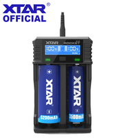 100% Original XTAR SV2 Fast Quick Charge 2A 18650 Battery Charger for AA AAA Li ion Ni MH 18650 Batteries USB Charger XTAR