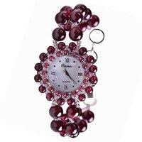 2019 настоящие Новые весенние и летние 19 лет часы продает женский натуральный гранатовый браслет кварцевые часы женские