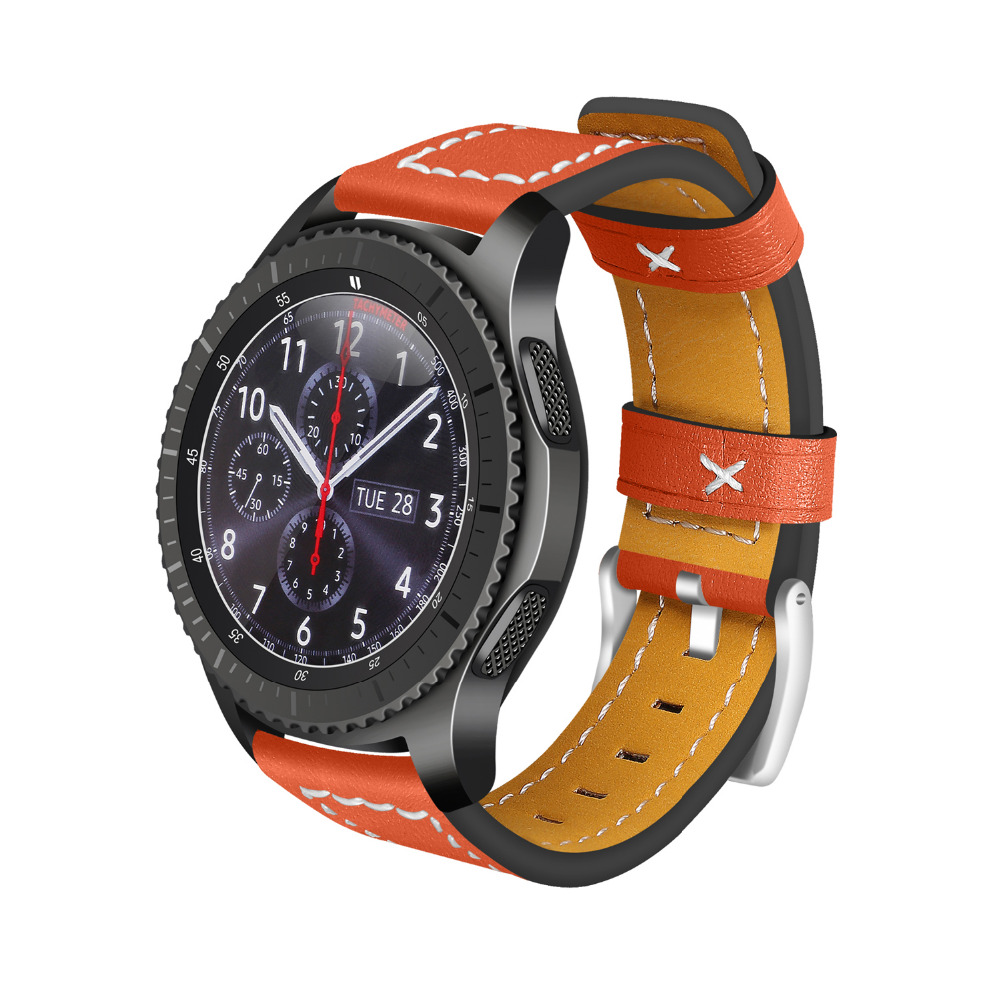 EIMO Watch Strap for Samsung gear s3 Frontier Band Classic Genuine Leather 22mm Wrist Bracelet Smartwatch Watchband Accessories samsung gear s3 classic frontier 22mm genuine leather band strap with free tools best quality accessories watch bracelet