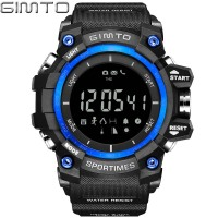 Brand LED Stopwatch Digital Sport Watches Men Clock Waterproof Pedometer Altimeter Temperature Shock Male Electronic Wrist