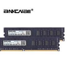 DDR3 RAM 8Gb (2 szt x 4GB) lub 16GB(2 sztuk x 8GB) 1333MHz 1600MHz1866MHZ PC3-10600 12800 dla Intel pamięć stacjonarna DIMM 1 5V 240Pin tanie tanio ANKOWALL 1333 mhz Pulpit NON-ECC 9-9-9-24 Dożywotnia Gwarancja 2x dwukanałowy DDR3 4GB 1 5 V
