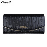 Cossroll Vintage Wallets Phone Clutch Bags Genuine Leather Designer Purse Famous Brand Women Wallet Luxury Gifts