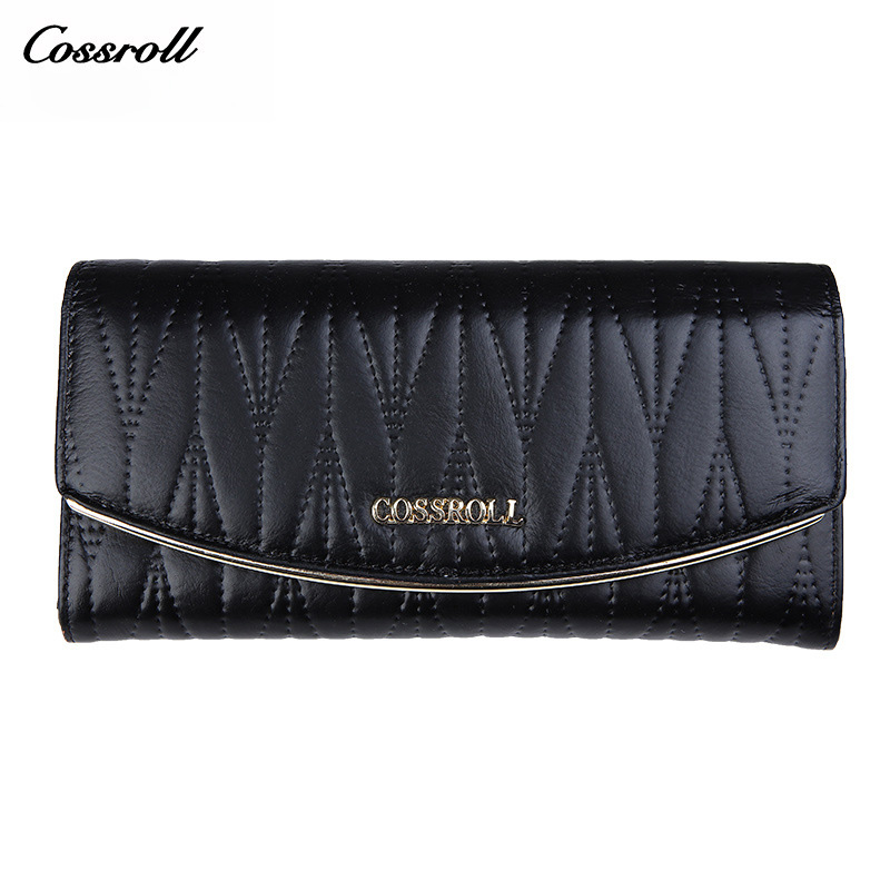 Cossroll Brand Luxury Genuine Leather Women Wallet Female Evening Purse Credit C
