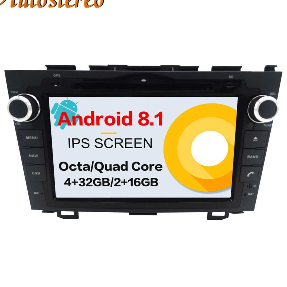 Android 8.1 Voiture Lecteur DVD GPS navigation Pour Honda CRV CR-V 2006-2011 tête unité multimédia lecteur 2 din radio magnétophone IPS