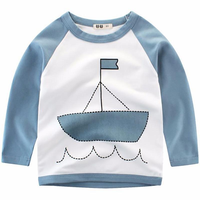 Boys T shirt Children Tees Summer 2018 Cartoon Clothes Long Sleeve Tops Baby Cotton Shirts Kids T-shirts for Girls Sweatshirt