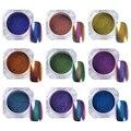 1G Top-Grade Camaleón Brillo Polvo de Esmalte de Uñas de Gel UV Manicura Del Arte Del Clavo Glitters Pigmento de Cromo Negro Base Color Necesario