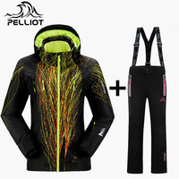 Pelliot Top Quality Women S Ski Suit Waterproof Super Warm Mountain Skiing Suit Outdoor Ski Jacket