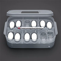 Hot Plastic 12 Holes Reptile Egg Incubation Tray With Thermometer Incubating Gecko Lizard Snake Eggs Incubation