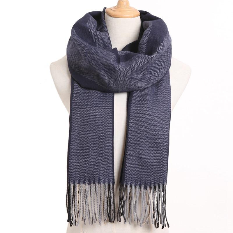 [VIANOSI] клетчатый зимний шарф женский тёплый платок одноцветные шарфы модные шарфы на каждый день кашемировые шарфы - Цвет: 44