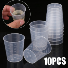 10pcs/50pcs/100pcs 30ml Transparent Plastic Measuring Cups Laboratory Kitchen Disposable Liquid Measure Pot Container