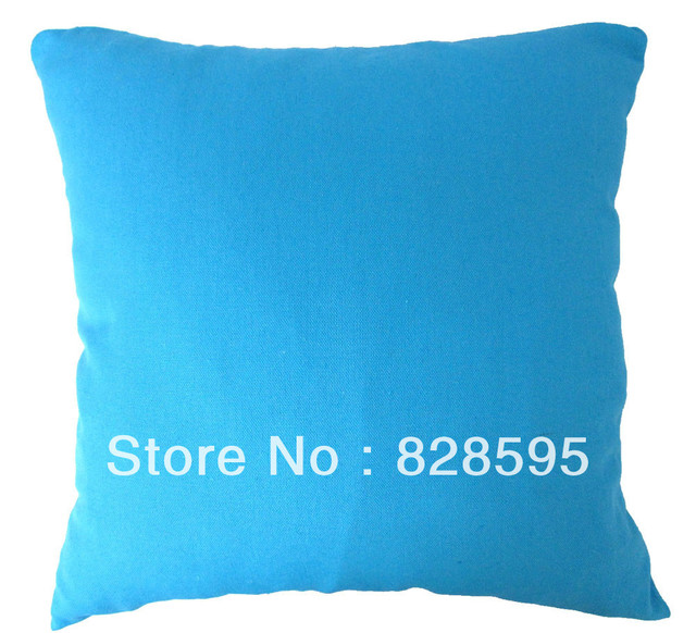 Us 11 79 Ea138 54 X 54cm 21 Inch Plain Turquoise Cotton Canvas Cushion Cover Pillow Case 1pcs Hong Kong Post Tracking Number In