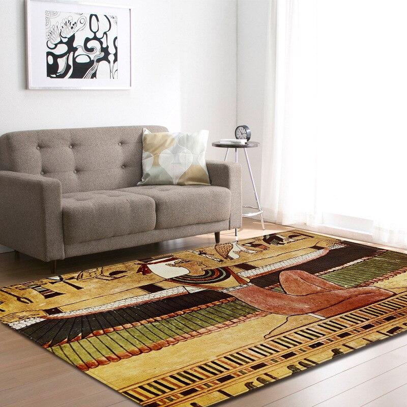 Alfombras grandes con patrón de retrato para Mujeres Africanas para sala de estar, sofá antideslizante, alfombrilla de noche, tapisón dywan