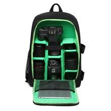 Upgrade waterproof Digital DSLR Photo Padded Backpack w/Rain Cover Laptop 15,6 «мультифункциональная камера Мягкая Сумка видео чехол