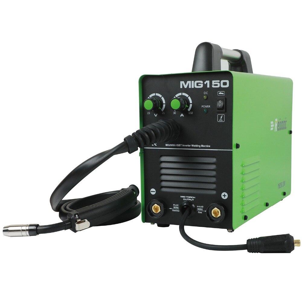MIG Welder MIG-150 Gas/No Gas Welder DC 220V 2 in 1 Flux Core Wire Inverter Welding Machine MMA MIG MAG IGBT Inverter Welder