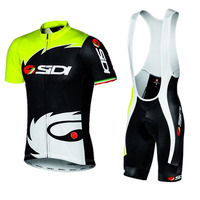 2018 Summer Sidi TEAM Cycling JERSEY Quick Dry Ropa Ciclismo Mens Bicycle Clothing GEL Breathable Pad Bib Short Sets