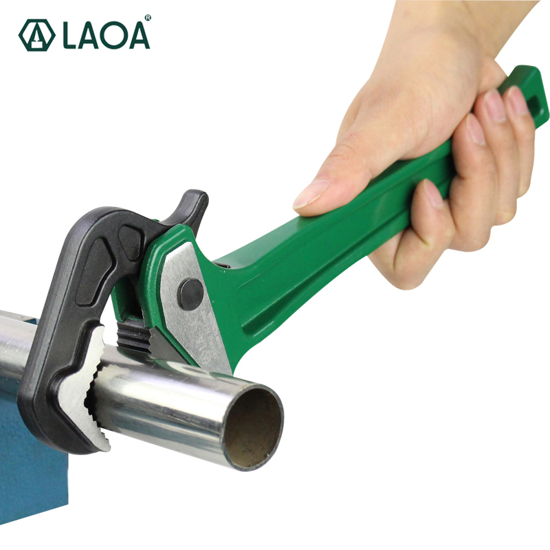 LAOA Rapid Pipe Pliers multifunction Aluminum Ratchet Water  Pipe Wrench Forceps Tongs With CR-V Wrench Head Free Shipping chrome vanadium steel ratchet combination spanner wrench 9mm