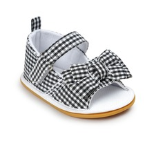 Black Baby Shoes Infant Toddler Newborn Pram Crib First Walkers Summer Striped Soft Rubber Soled Outdoor