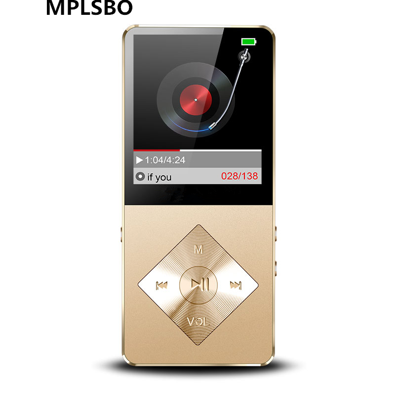 MPLSBO MP3 MP4 Music Player Speaker metal mp4 Player 8GB 16GB HIFI Lossless Sound music alloy FM Radio Voice Recorder E-Book