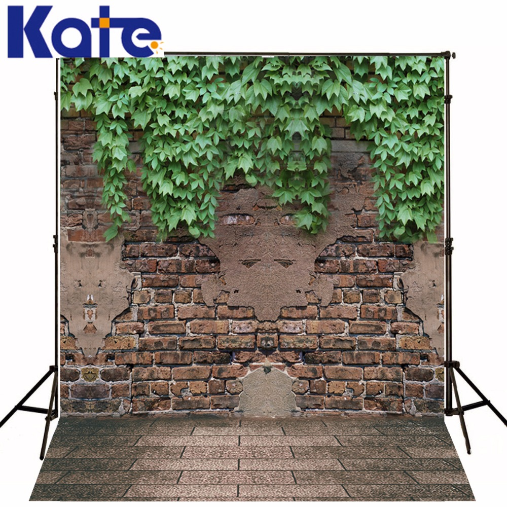Kate Green Brick Wall Backdrop Spring Photography Backdrops Outdoor Wedding Background Customize Seamless Photo For Studio shengyongbao 300cm 200cm vinyl custom photography backdrops brick wall theme photo studio props photography background brw 12