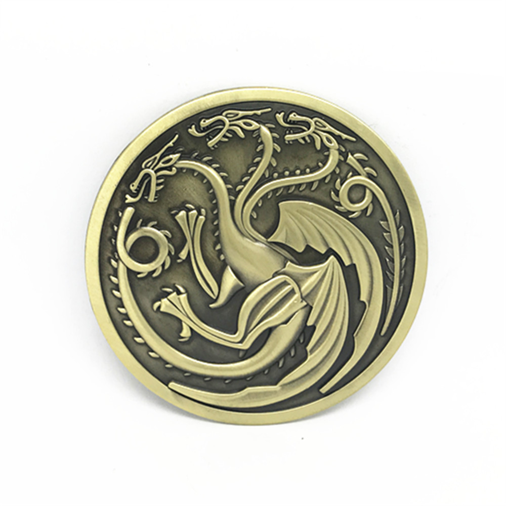 Western Cowboy Belt Buckle Dragon Power Crazy Game Retro Bronze Color Suitable For 3.8 Belts