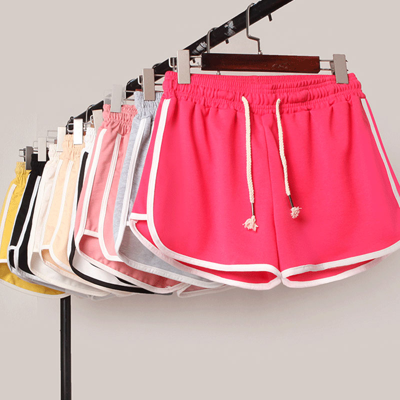 Drop Ship Tow Bar style Women Casual   Shorts   Running   Shorts   Summer Large Size High Waist Sports   Shorts   Loose Pajamas