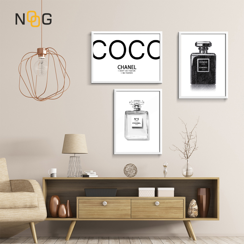 NOOG Style Poster Canvas Portray Fashionable Couture Wall Artwork Residing Room Print Image Black Fragrance Dwelling Ornament Portray & Calligraphy, Low cost Portray & Calligraphy, NOOG Style Poster Canvas...