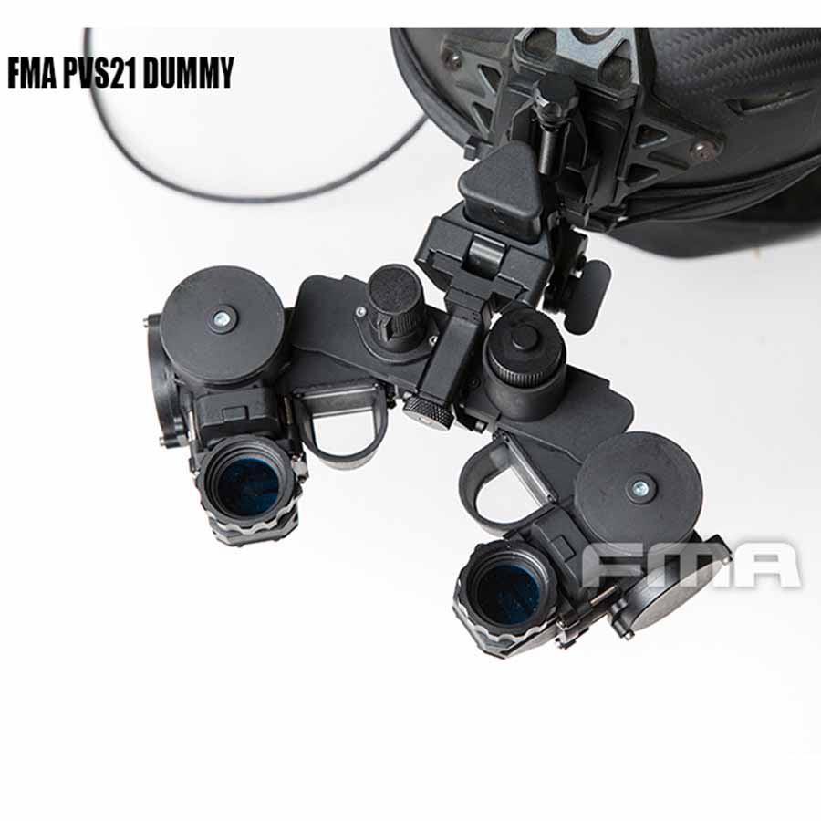 FMA New Tactical Airsoft Helmet PVS21 Night Vision Goggles NVG DUMMY Model Black TB1300
